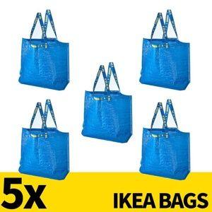 LOT OF 5 Ikea Bags Large 36L Nylon Tote Shopping